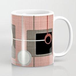 Orbs & Squares Pink Coffee Mug