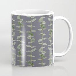 Eucalyptus Patterns Dusty Purple Background Realistic Botanic Patterns Organic & Striped Pattern Coffee Mug