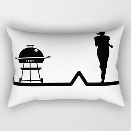 Heartbeat Running Jogging and Barbeque | Pulse Rectangular Pillow