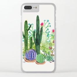 Cactus Garden Clear iPhone Case