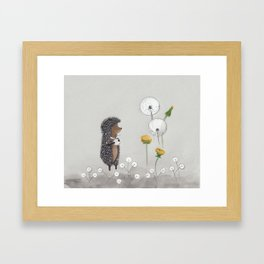 Hedgehog in the Fog Framed Art Print