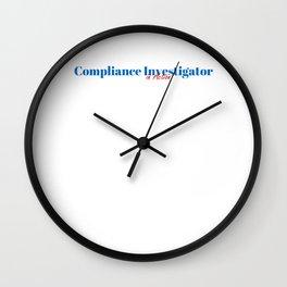 Happy Compliance Investigator Wall Clock
