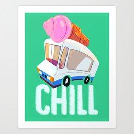 Chill Ice Cream Art Print