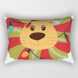 Your Big Cat in Decorative Christmas Wreath Rectangular Pillow