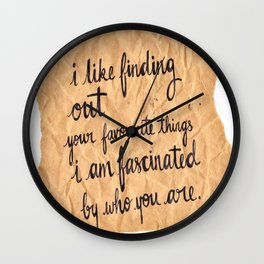 Paper Fascination Wall Clock