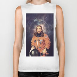"Jesus ""Space Age"" Christ - A Holy Astronaut Biker Tank"