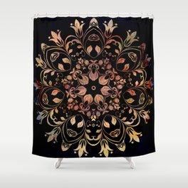 deep toned mandala pattern Shower Curtain