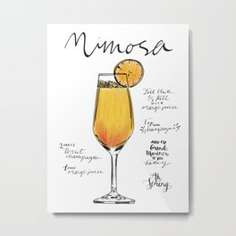 The Drink Collective: Mimosa Metal Print