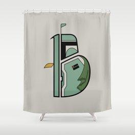 B is for Boba Fett Shower Curtain