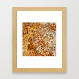 Crazy Lace Laguna Agate Framed Art Print