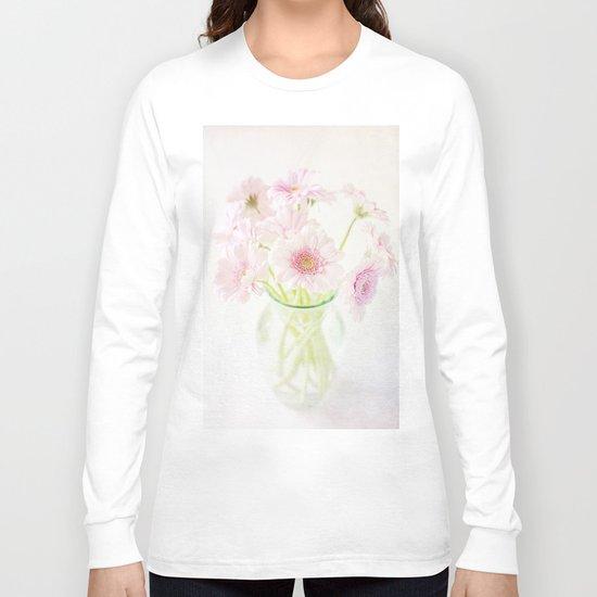 Pink Gerberas In A Vase {Light Textured Version} Long Sleeve T-shirt