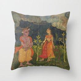 Abhisarika Nayika Throw Pillow