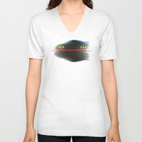 racing V-neck T-shirts featuring color racing by creaziz