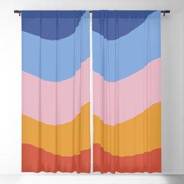 Geometric Beach Gradient Colors Blackout Curtain