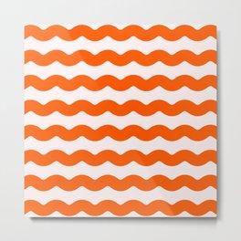 Winter 2018 Color: Unapologetic Orange on Pink Waves Metal Print