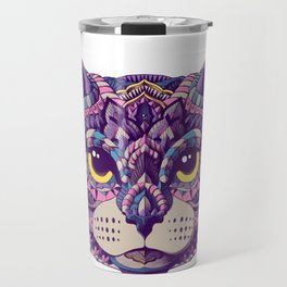Cat Head (Color Version) Travel Mug