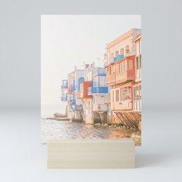 508. Mykonos Street Style, Greece Mini Art Print