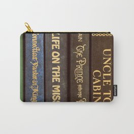 Old Books - Square Twain Carry-All Pouch