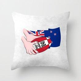 Rugby Ball New Zealand Throw Pillow