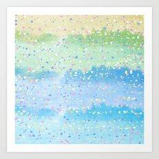 Spring Splatter Art Print