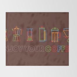 ENJOY YOUR COFFEE Throw Blanket