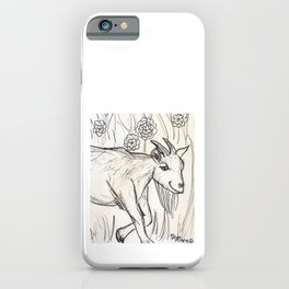Grinning Goat iPhone Case