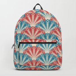 Colorful Abstract Peacock Feather Pattern Backpack