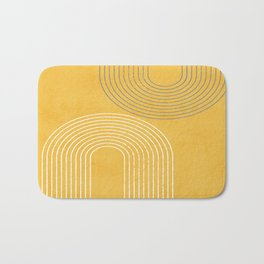 Golden Minimalist Abstract Bath Mat