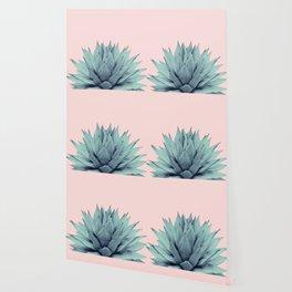 Agave Blush Summer Vibes #1 #tropical #decor #art #society6 Wallpaper