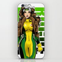 rogue iPhone & iPod Skins featuring Rogue by Genevieve Kay