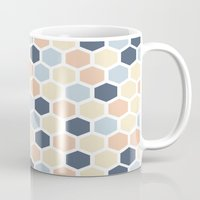 honeycomb Mugs featuring Honeycomb by 603 Creative Studio