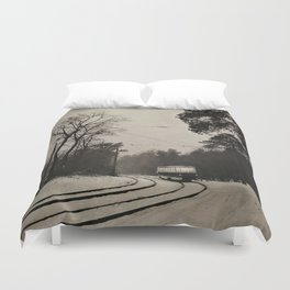 forest tram Duvet Cover