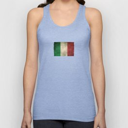 Old and Worn Distressed Vintage Flag of Italy Unisex Tank Top