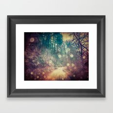 Forest Trees Nature Path - Vintage Magical Fae Framed Art Print