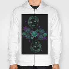 Woman with flowers and beetles Hoody