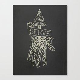 Serve Canvas Print