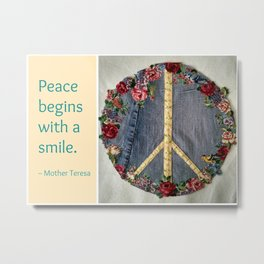 Peace Patch Metal Print