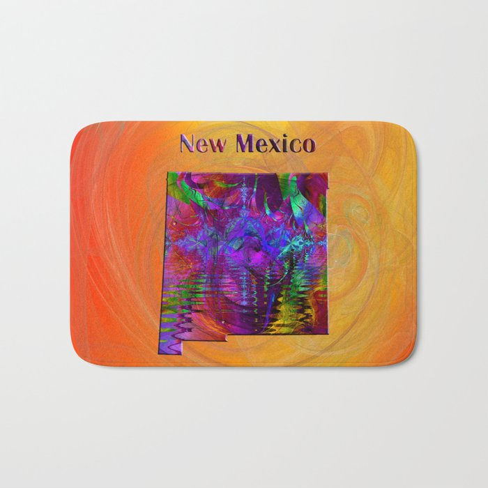New Mexico Map Bath Mat