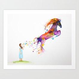 Galloping Imagination Art Print