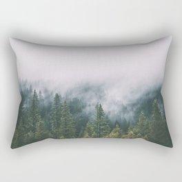 Forest Fog XI Rectangular Pillow