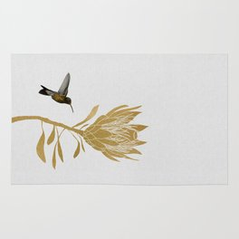 Hummingbird & Flower I Rug