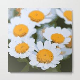 Sweet Summer Flower Patch Metal Print