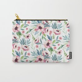 Flowers in Bloom Pattern Carry-All Pouch