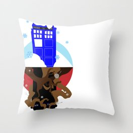 Upside Down Time Travel Throw Pillow