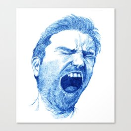 Man yawning or screaming? Canvas Print