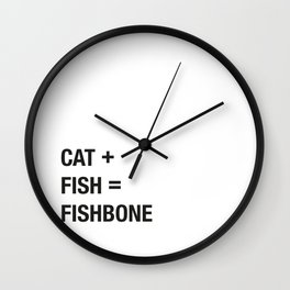 Cat + Fish Wall Clock