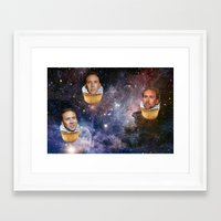nicolas cage Framed Art Prints featuring Cage Nebula by Jared Cady