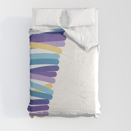 Side multicolor lines Comforters