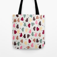 preppy Tote Bags featuring Preppy Hearts by Welovepillows