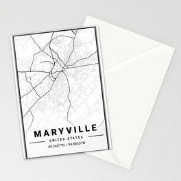 Maryville Light City Map Stationery Cards